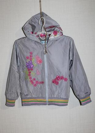 Куртка на флисе для девочек 2-5 лет