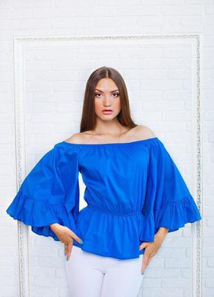 Блузка с пышными рукавами