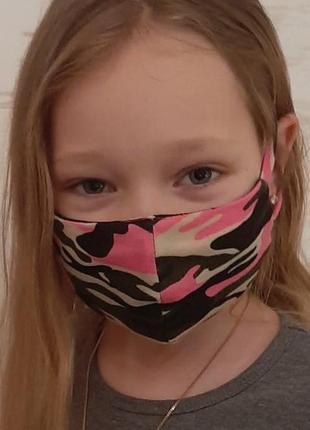 Детские маски многоразовые
