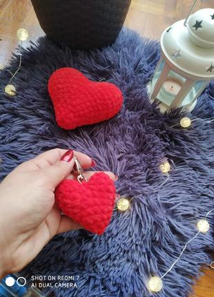 Брелок сердечко до дня святого валентина