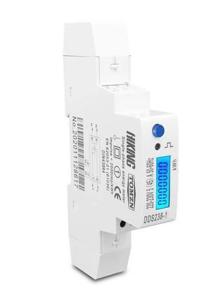 Счетчик электроэнергии однофазный DDS238-1 на дин рейку 220В 45А