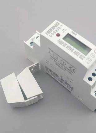 Счетчик электроэнергии однофаз DDS238-1 на дин рейку 220В 45А DIN