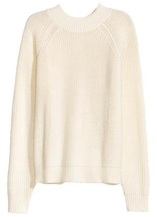 Вязаный джемпер свитер с молнией на спине h&m