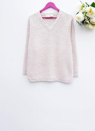 Теплый свитер бежевый красивый свитер большой размер