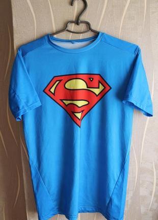 Превосходная компрессионная термо футболка с большим лого ceda...