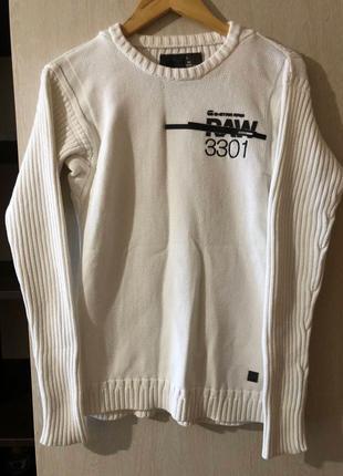 Мужской белый свитер G - Star