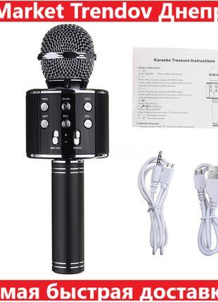 Детский Микрофон WS-858 WSTER BLACK. Цвет: черный