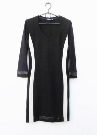 Теплое  трикотажное итальянское  платье с рукавом 3/4 из виско...