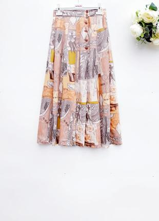 Ексклюзивная юбка миди в етно стиле винтаж юбка за колено