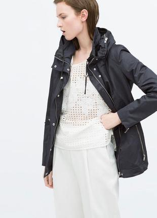 🌿 черный плащ zara | куртка |  ветровка | пальто | парка