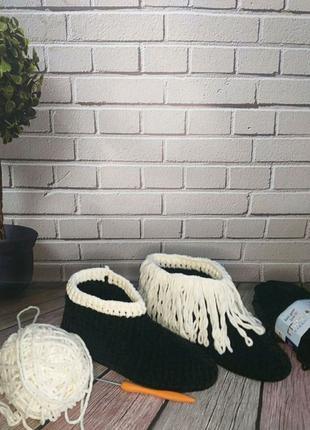 Тапочки-сапожки ручной работы