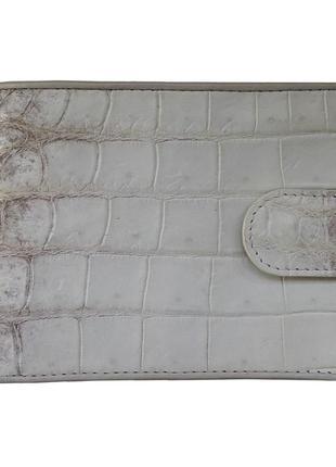 Стильный кошелек портмоне гаманець бумажник из кожи крокодила