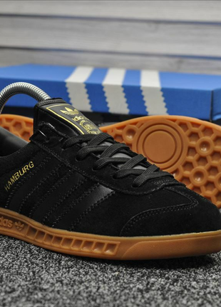 Кроссовки мужские  Adidas Hamburg Black