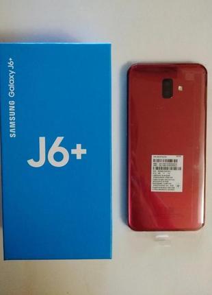 Samsung Galaxy j6 plus, 3/32GB Red, новый