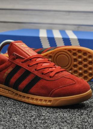 Кроссовки мужские  Adidas Hamburg Red Black