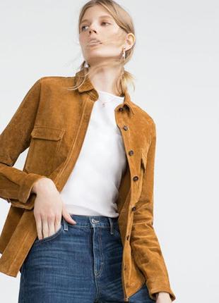 Кожаный пиджак куртка кожанка zara