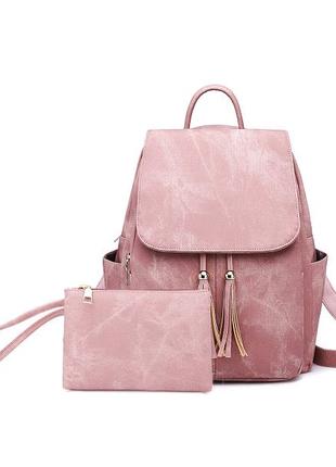 Жіноча сумка - рюкзак HiFlash чорна Рожевий