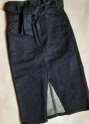Джинсовая юбка, длина миди, р. 34/XS