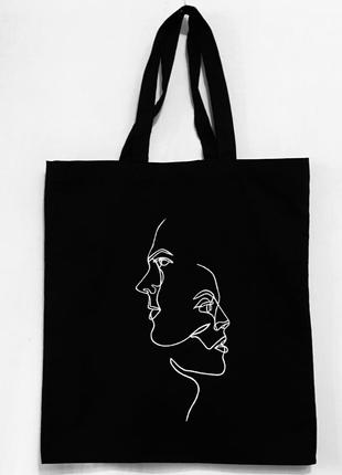 """Эко-сумка шоппер """"Лица"""""""