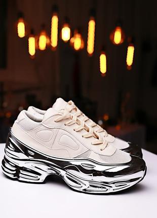 Кроссовки Adidas X Raf Simons Ozweego White Silver Metallic