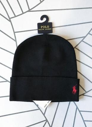 Шапка, бини polo ralph lauren rib-knit cotton beanie