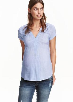 Рубашка блузка h&m в полоску для беременных р. xs 34