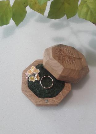 "Шкатулка для свадебных колец.Шкатулка для колец ""Дерево"""