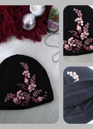 Женская зимняя шапка на флисе