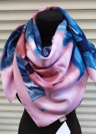 Теплый кашемировый платок турция розовый голубой в наличии