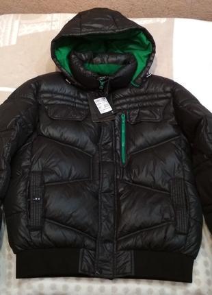 Новая мужская черная куртка пуховик Remain зима демисезон