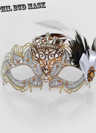 Карнавальная маска металлическая Аманда