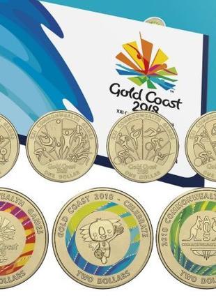 Австралия. Набор из семи монет 'XXI игры содружества' (2018)