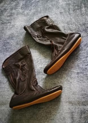 Жіночі ексклюзивні чоботи 100 шкіра