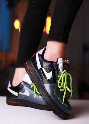 Женские Nike Air Force 1 'Vandalized Iridescent' Green Black