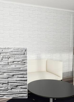 Декоративный камень - Верона (Белый облицовочный гипсовый кирпич)