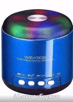 MP3 BlueTooth колонка WSTER WS-Y90B LED