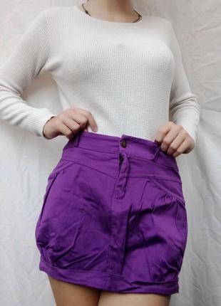 Мини юбка Purple