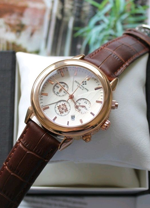 Мужские наручные часы Patek Philippe brown&bronze