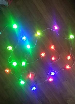 Гирлянда новогодняя 20 led ламп