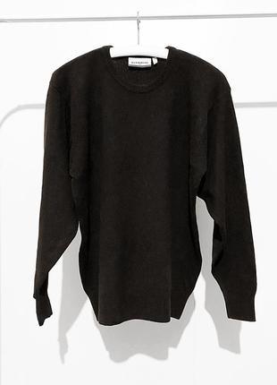 Мужской шерстяной свитер овечья шерсть 100% размер m