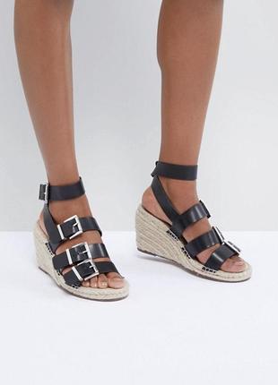 Asos shoes эспадрильи  сандали босоножки на танкетке платформе