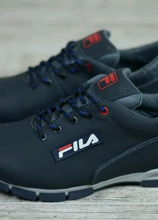 Мужские кожаные кроссовки Fila