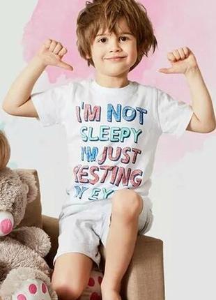 18-23 детская пижама для мальчика pepco футболка+шорты pepco