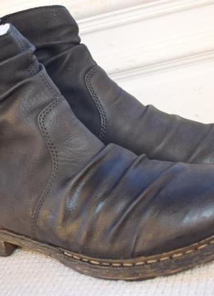 Зимние ботинки rieker р.42 27,3 см германия полусапоги
