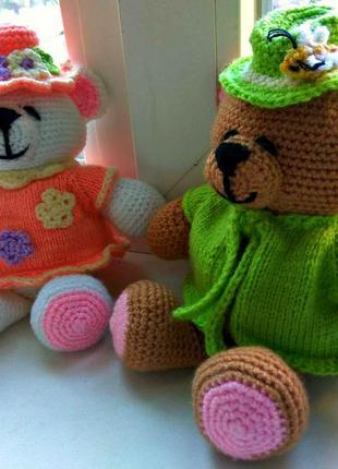Игрушки Hand made, амигуруми, медвежонок, мягкая игрушка, ручная