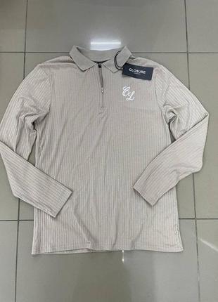 Лонгслив свитер поло