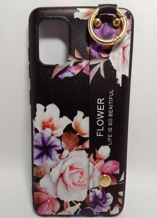Задня накладка Samsung A31 Flower Rope Black
