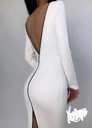 Платье с молнией на спине. тренд 2021 года