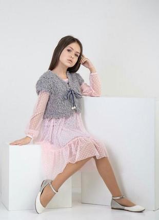 Платье+платье сетка+желетка
