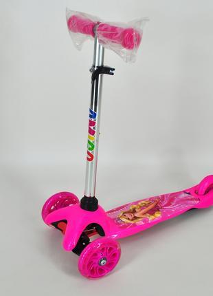 Самокат Ecoline Drift трехколесный розовый со светящимися
